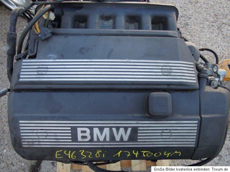 bmw e46 328i m52t motor engine anbauteile m52b28 286s2. Black Bedroom Furniture Sets. Home Design Ideas