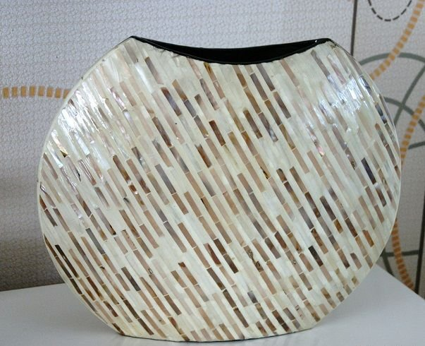 gro e xl vase bodenvase muschel perlmutt deko vase. Black Bedroom Furniture Sets. Home Design Ideas