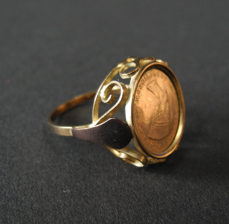 Angelaufenes Gold