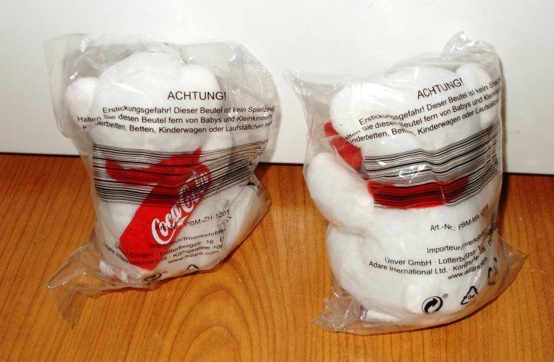 2 coca cola polarb ren eisb ren b rchen musiker2016 neu ovp ebay. Black Bedroom Furniture Sets. Home Design Ideas