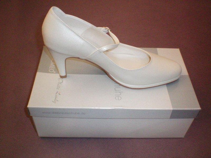 neu leder riemchen pupms white lady gr 38 5 offwhite creme elfenbein ebay. Black Bedroom Furniture Sets. Home Design Ideas