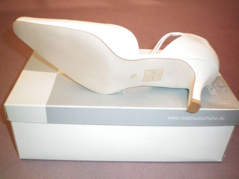 neu leder riemchen pupms white lady gr 39 6 offwhite creme elfenbein ebay. Black Bedroom Furniture Sets. Home Design Ideas