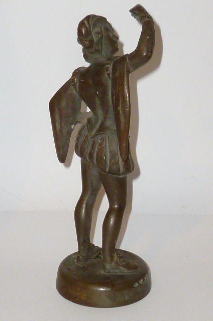 alte bronzefigur b ste skulptur plastik bronce figure figur schwer mann soldat ebay. Black Bedroom Furniture Sets. Home Design Ideas