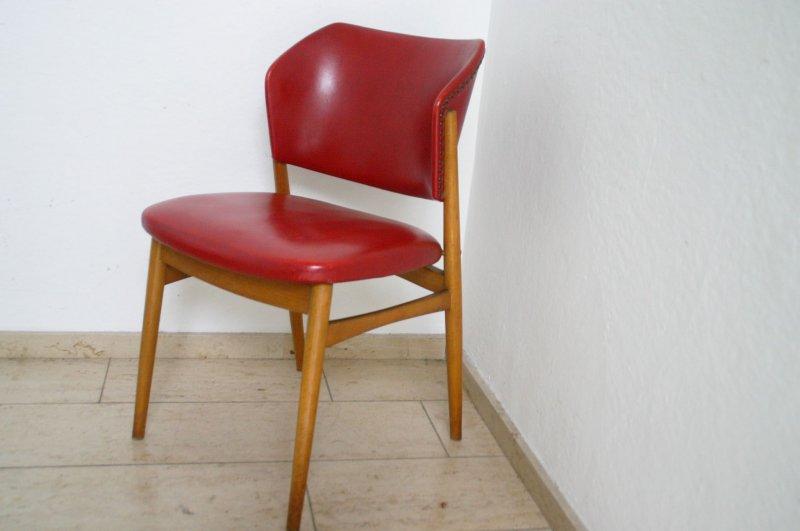 60er jahre vintage chair rot sessel stuhl design teak for Stuhl design 60er