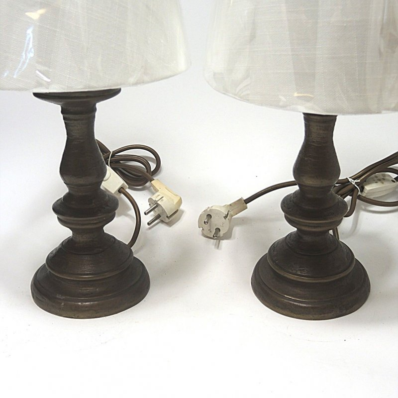 P rchen set 2 x hochwertige bronze tischlampen kraas lampe for Hochwertige tischlampen