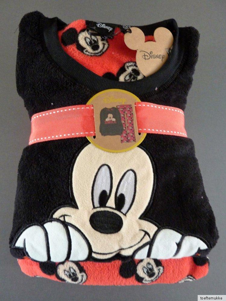 neu disney mickey mouse damen schlafanzug fleece hausanzug pyjama warm s m l xl ebay. Black Bedroom Furniture Sets. Home Design Ideas