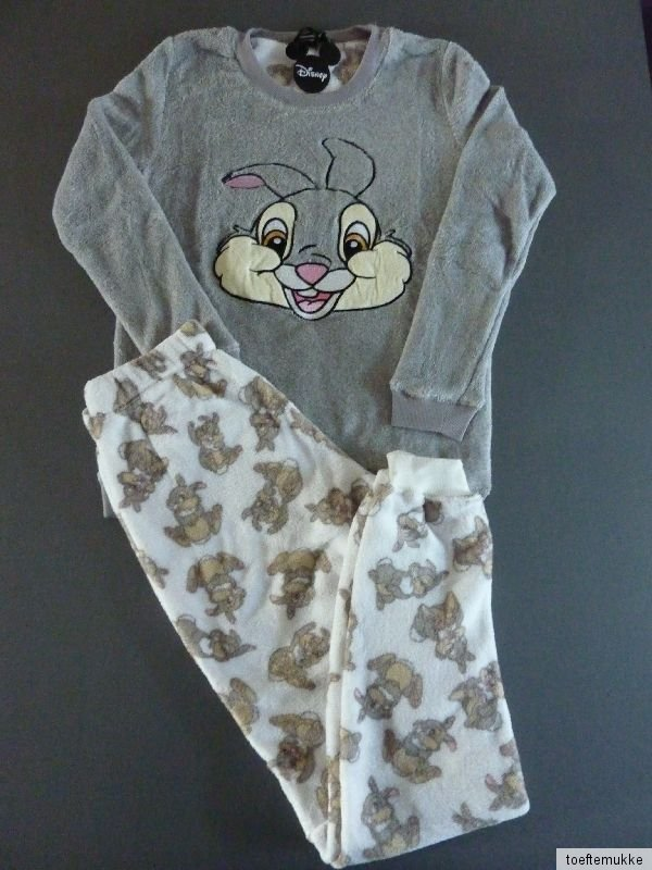 neu primark disney klopfer hase fleece pyjama schlafanzug hausanzug set xs s m l ebay. Black Bedroom Furniture Sets. Home Design Ideas