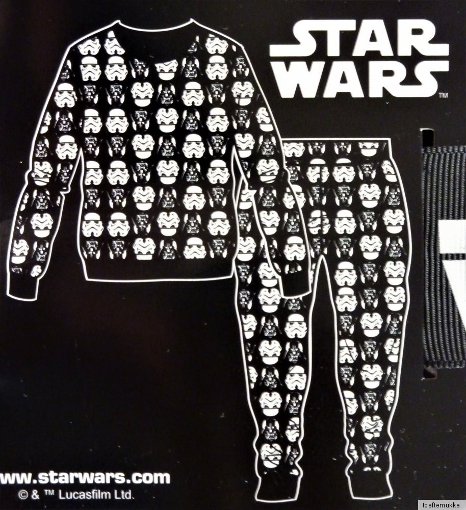 neu disney star wars herren fleece pyjama darth vader. Black Bedroom Furniture Sets. Home Design Ideas