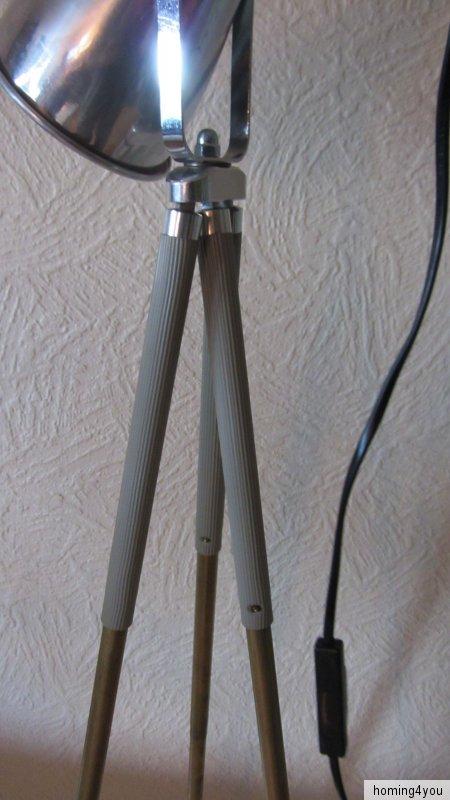tripod lampe dreibein stehlampe bauhaus stativ ebay. Black Bedroom Furniture Sets. Home Design Ideas