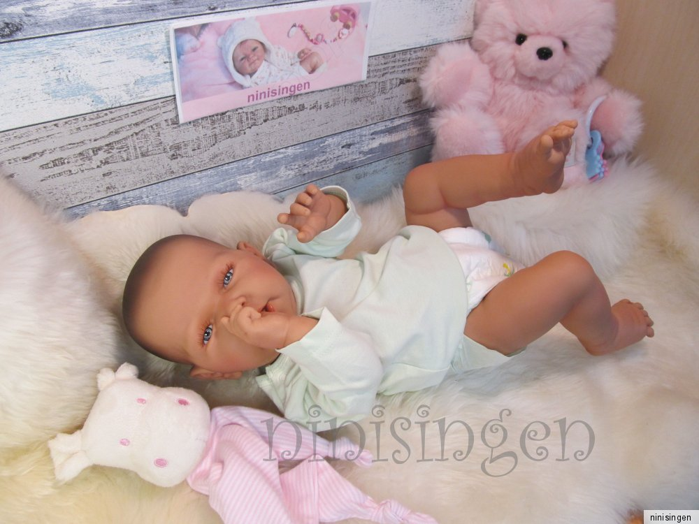 ninisingen rebornbaby reborn heide m dchen babypuppe baby vollvinyl puppenbaby ebay. Black Bedroom Furniture Sets. Home Design Ideas