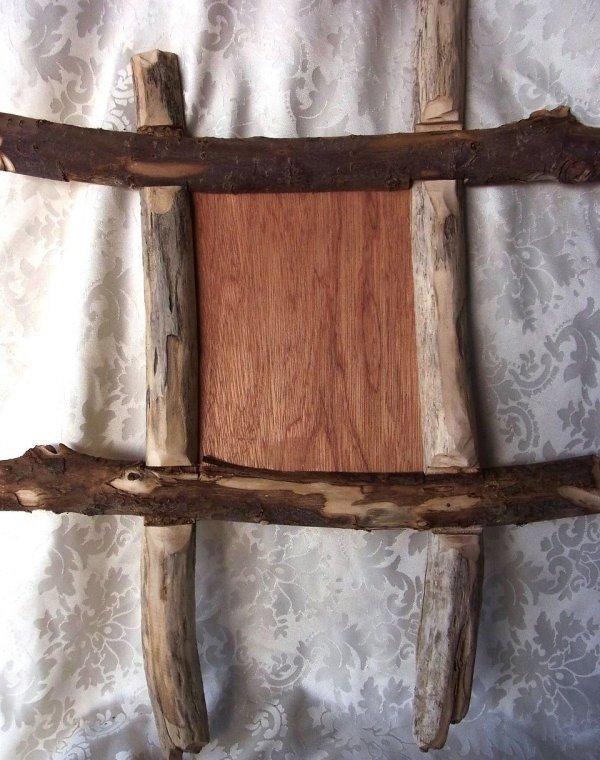 bilderrahmen rustikal rinde holz olivenholz oliven l baum ca 55 x 45 cm ebay. Black Bedroom Furniture Sets. Home Design Ideas