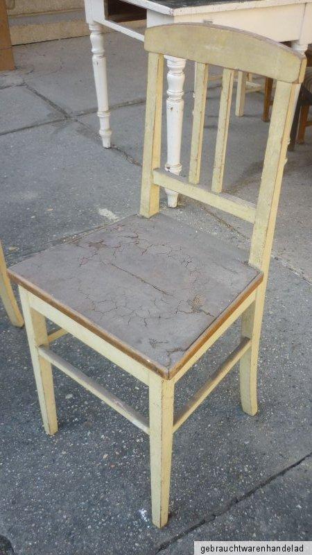 2 alte antike stühle küchenstühle stuhl shabby chic landhausstil  eBay