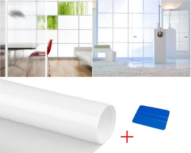 7 23 m fen tre verre d poli film blanc mat opaque auto for Film protecteur fenetre