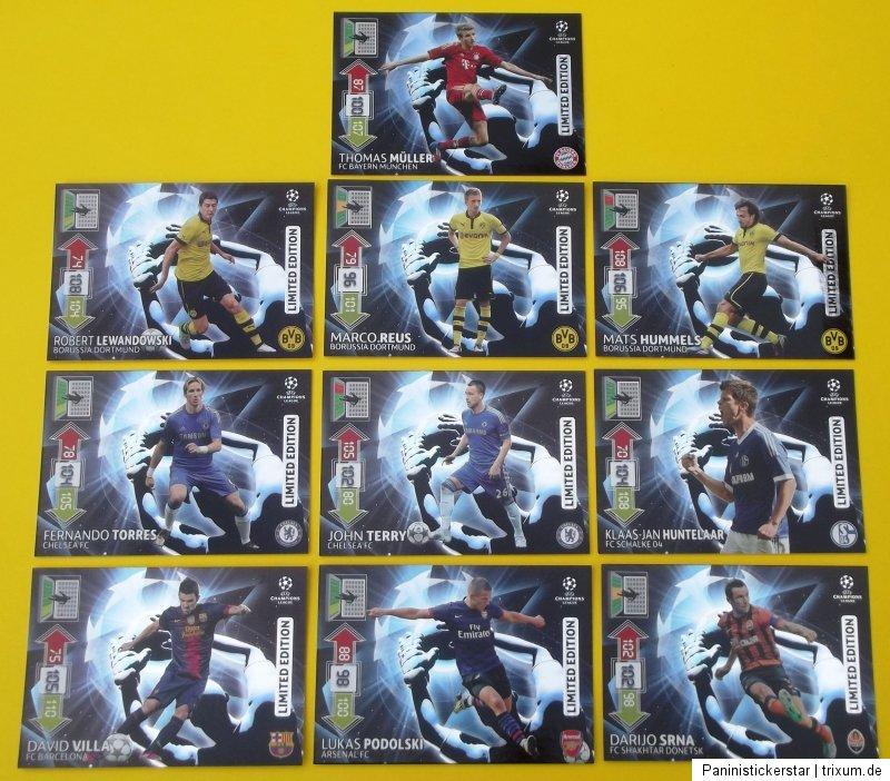 Champions League 2012 2013 Panini Adrenalyn 10 X Limited Villa Srna