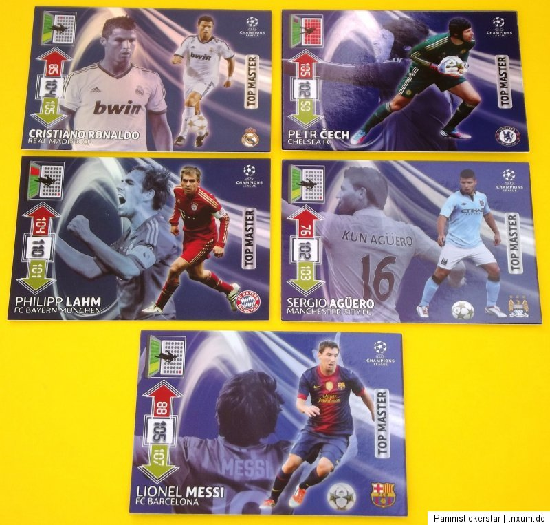 Champions League CL 2012 2013 Legends Top Master Auswahl Panini 12 13
