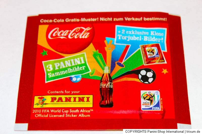 panini wc wm 2010 south africa 1 x t te packet coca cola klose germany rare ebay. Black Bedroom Furniture Sets. Home Design Ideas