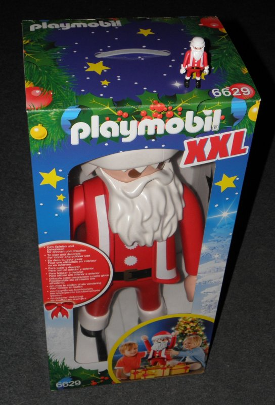 weihnachtsmann xxl playmobil figur 65 cm drinnen u. Black Bedroom Furniture Sets. Home Design Ideas