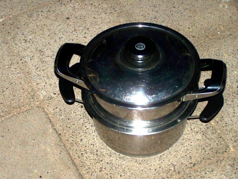 2x amc 20cm classic line edelstahl kochtopf garaufsatz deckel cooking pots ebay. Black Bedroom Furniture Sets. Home Design Ideas