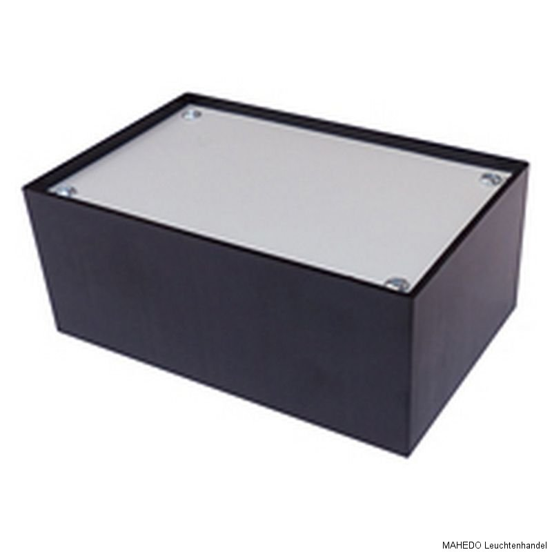 universal ger te leer diy geh use case box kunststoff plastik schwarz silber ebay. Black Bedroom Furniture Sets. Home Design Ideas