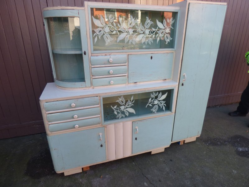 omas k chenbuffet k chenschrank k chenvitrine40 50er jahre shabby chic vintage ebay. Black Bedroom Furniture Sets. Home Design Ideas