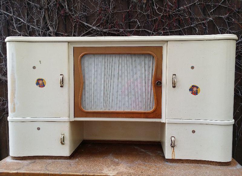 alter k chenschrank geschirrschrank anrichte buffet schrank frankfurter k che ebay. Black Bedroom Furniture Sets. Home Design Ideas