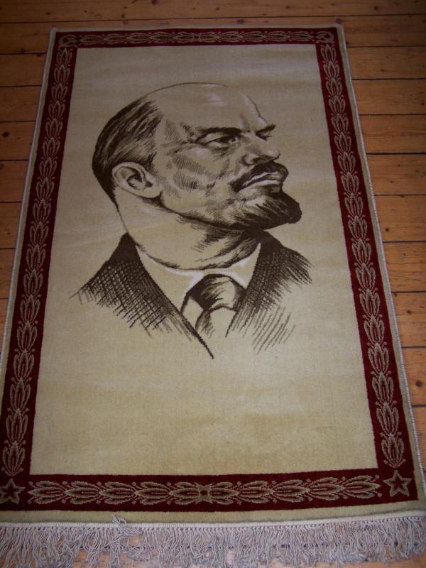 DDR Teppich Halbmond Wladimir Iljitsc Lenin Ostzone