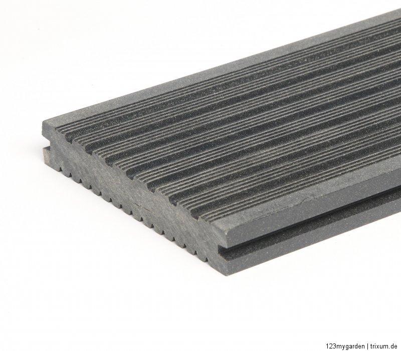 wpc premium volldiele volldielen terrassendielen dielen terrassen anthrazit grau ebay. Black Bedroom Furniture Sets. Home Design Ideas
