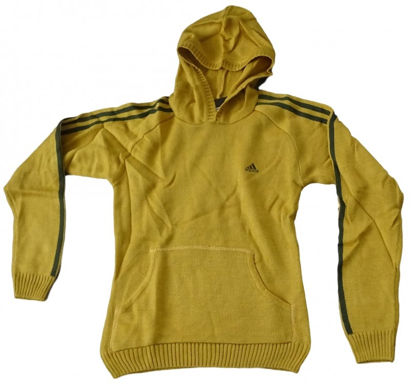 adidas 3 str hood kinder hoody sweatshirt kapuzen pullover gelb gr 134 s ebay. Black Bedroom Furniture Sets. Home Design Ideas