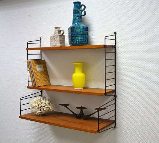 string nisse regal shelf original vintage strinning 60er teak ebay. Black Bedroom Furniture Sets. Home Design Ideas