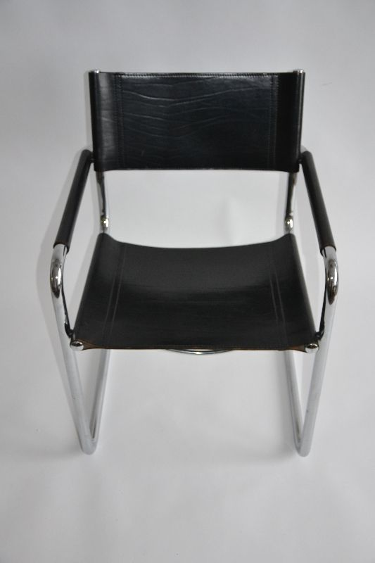 matteograssi freischwinger mg5 mart stam chrom leder ebay. Black Bedroom Furniture Sets. Home Design Ideas