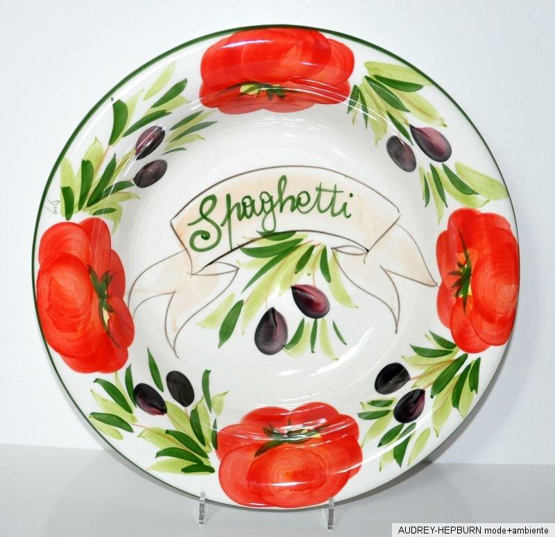 mediterranes geschirr spaghetti sch ssel 36 cm tomate. Black Bedroom Furniture Sets. Home Design Ideas