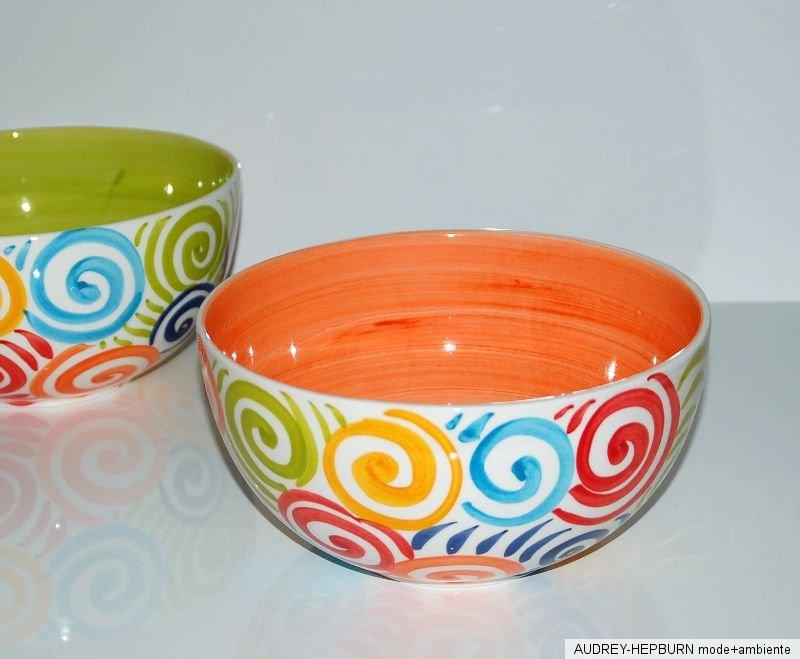 bassano keramik sch ssel rund 21 cm spirale mandarine mediterranes geschirr ebay. Black Bedroom Furniture Sets. Home Design Ideas