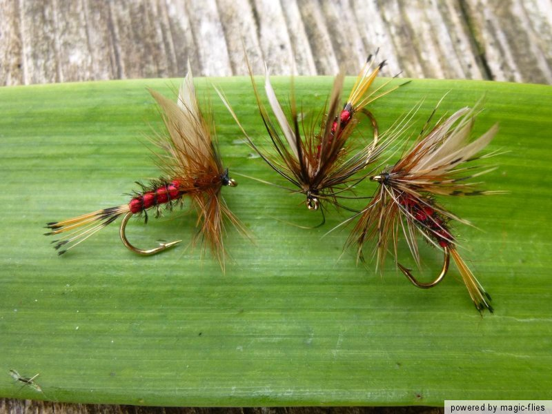 4 st hardy s favourite trocken fliegen fischen bach regenbogen forelle sche ebay. Black Bedroom Furniture Sets. Home Design Ideas