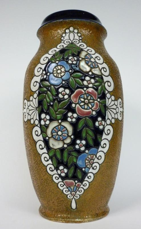 grand vase de sol 1910 amphore vienne vase en c ramique ebay. Black Bedroom Furniture Sets. Home Design Ideas