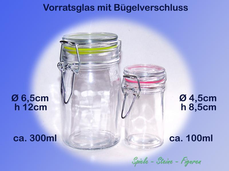 vorratsglas mit b gelverschluss 100ml 300ml einmach. Black Bedroom Furniture Sets. Home Design Ideas