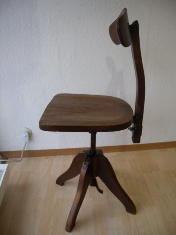 stoll 20er der federdreh stuhl drehstuhl architektenstuhl industrieal bauhaus ebay. Black Bedroom Furniture Sets. Home Design Ideas