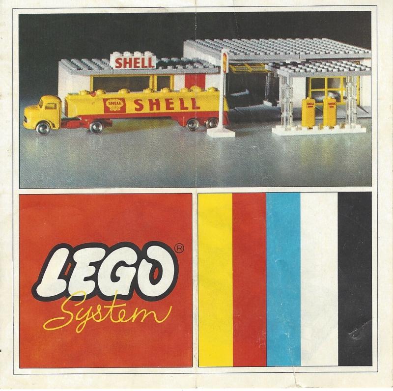 vintage lego system bauanleitung shell tankstelle anfang. Black Bedroom Furniture Sets. Home Design Ideas
