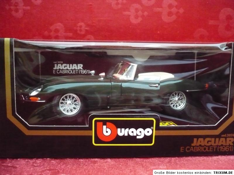 nice maquette de voiture bburago jaguar e cabriolet 1961 m tal 1 18 ebay. Black Bedroom Furniture Sets. Home Design Ideas