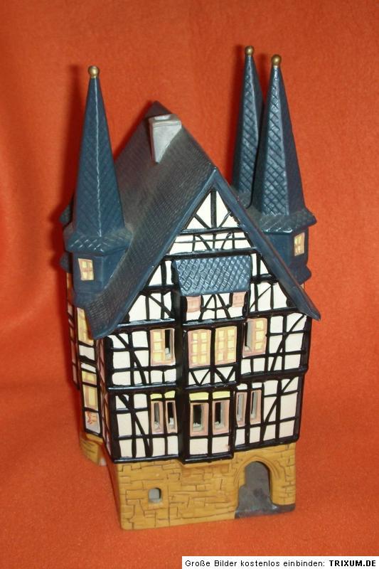 designer lampe g wurm k ln schwarzwaldhaus fachwerkhaus rathaus teelicht ebay. Black Bedroom Furniture Sets. Home Design Ideas