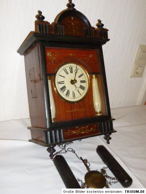 alte biedermeier wanduhr regulator porzallans ulen schwarzwalduhr wanduhren uhr ebay. Black Bedroom Furniture Sets. Home Design Ideas