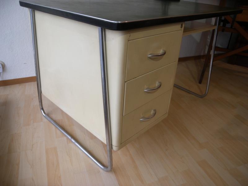 Mauser schreibtisch stahlrohr m bel art deco desk bauhaus for Bauhaus nachbau