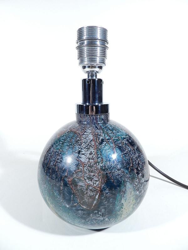 wmf ikora glas lampe kugel tischlampe art deco glass lamp 7 ebay. Black Bedroom Furniture Sets. Home Design Ideas