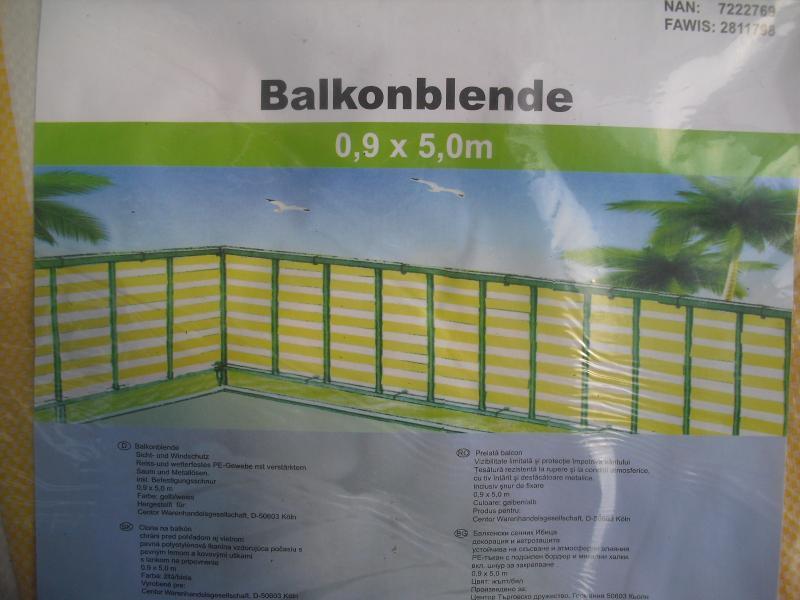 balkonblende balkon sichtschutz windschutz 0 9 m x 5 m. Black Bedroom Furniture Sets. Home Design Ideas
