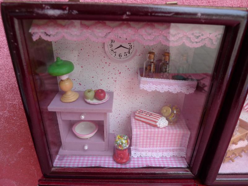 4 hermosa vitrinas muebles para mu ecas habitaciones en - Vitrinas para miniaturas ...