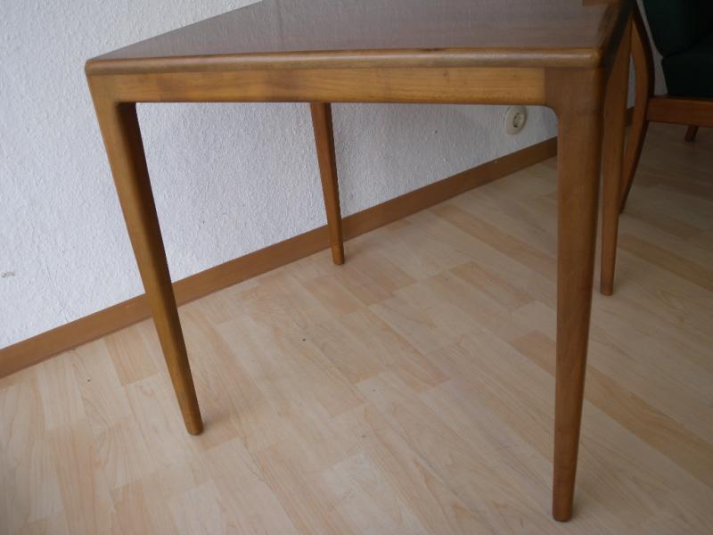 50er wilkhahn beistelltisch tisch design hartmut lohmeyer for Couchtisch kirschbaum