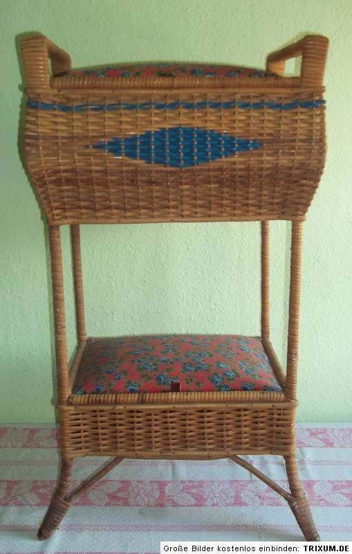 w schetruhe w schekorb 2 f cher weide geflecht 83cm um 1920 ebay. Black Bedroom Furniture Sets. Home Design Ideas
