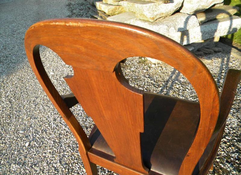 1930 schreibtisch stuhl armlehnstuhl orig leder eiche braun originalpolitur ebay. Black Bedroom Furniture Sets. Home Design Ideas