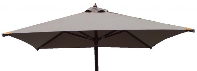 luxus sonnenschirm 3 x 2 m taupe balkon landhausschirm gartenschirm inkl cover ebay. Black Bedroom Furniture Sets. Home Design Ideas