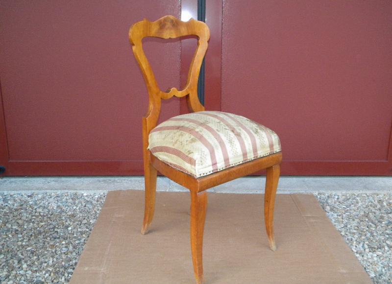 1830 unrest biedermeier lyratisch 2 st hle kirsche furniert schreibtisch stuhl ebay. Black Bedroom Furniture Sets. Home Design Ideas