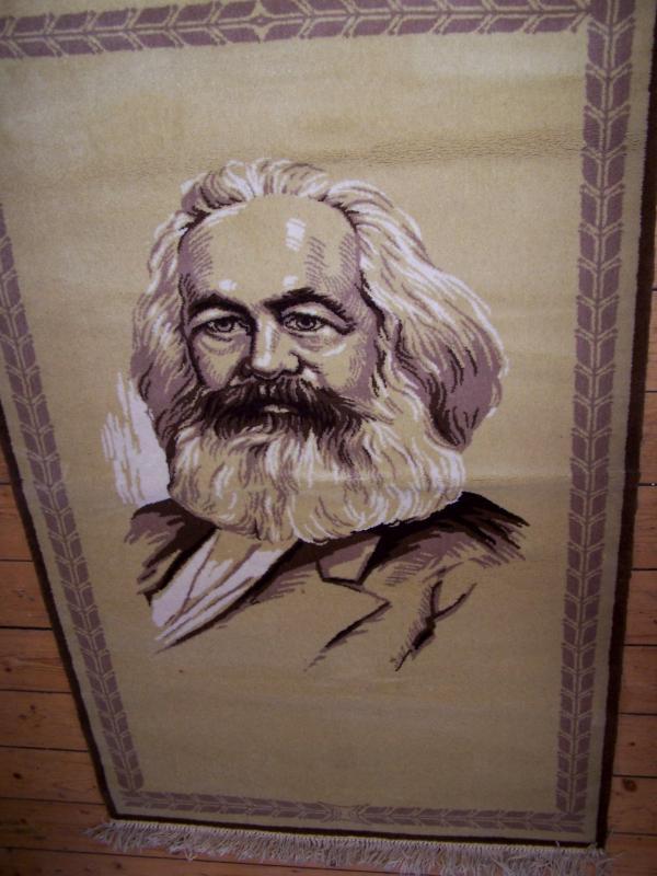 DDR Teppich Halbmond Karl Marx Ostzone Kommunistischer